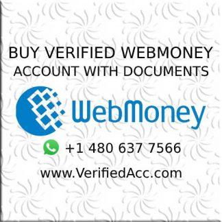 Buy Fully Verified Webmoney Account