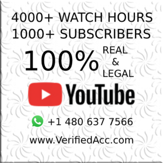 Buy Youtube 4000 Watch Hours Time + 1000 Subscribers